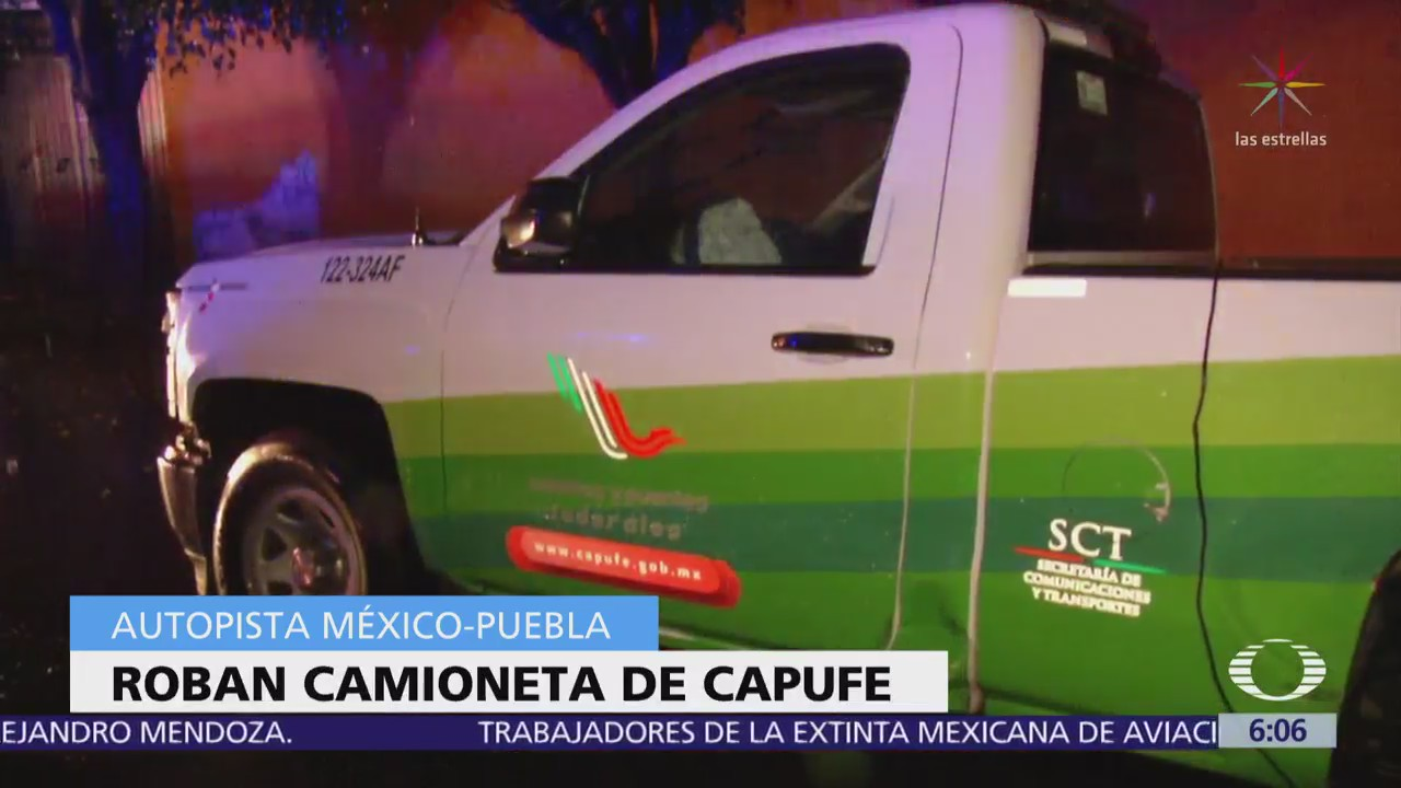 Roban camioneta de Capufe en la México-Puebla