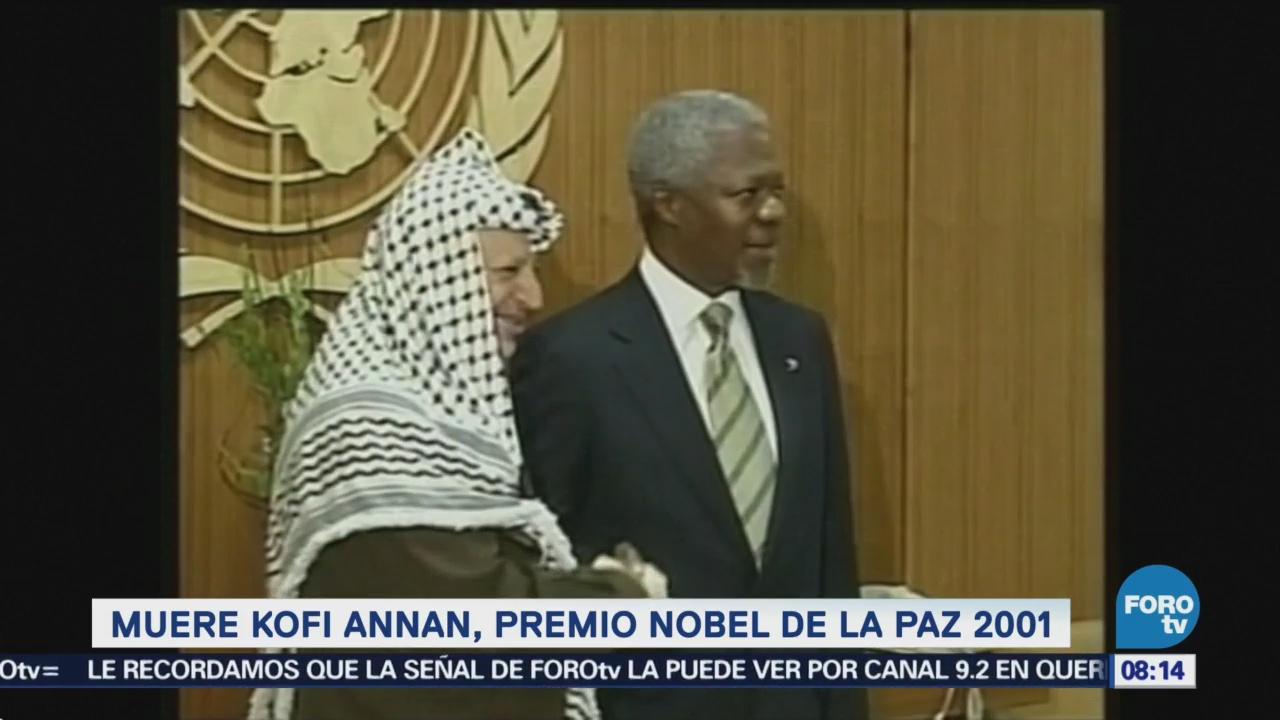 Muere Kofi Annan, Premio Nobel De La Paz 2001 Exsecretario General De La Onu, Organización de las Naciones Unidas (ONU),