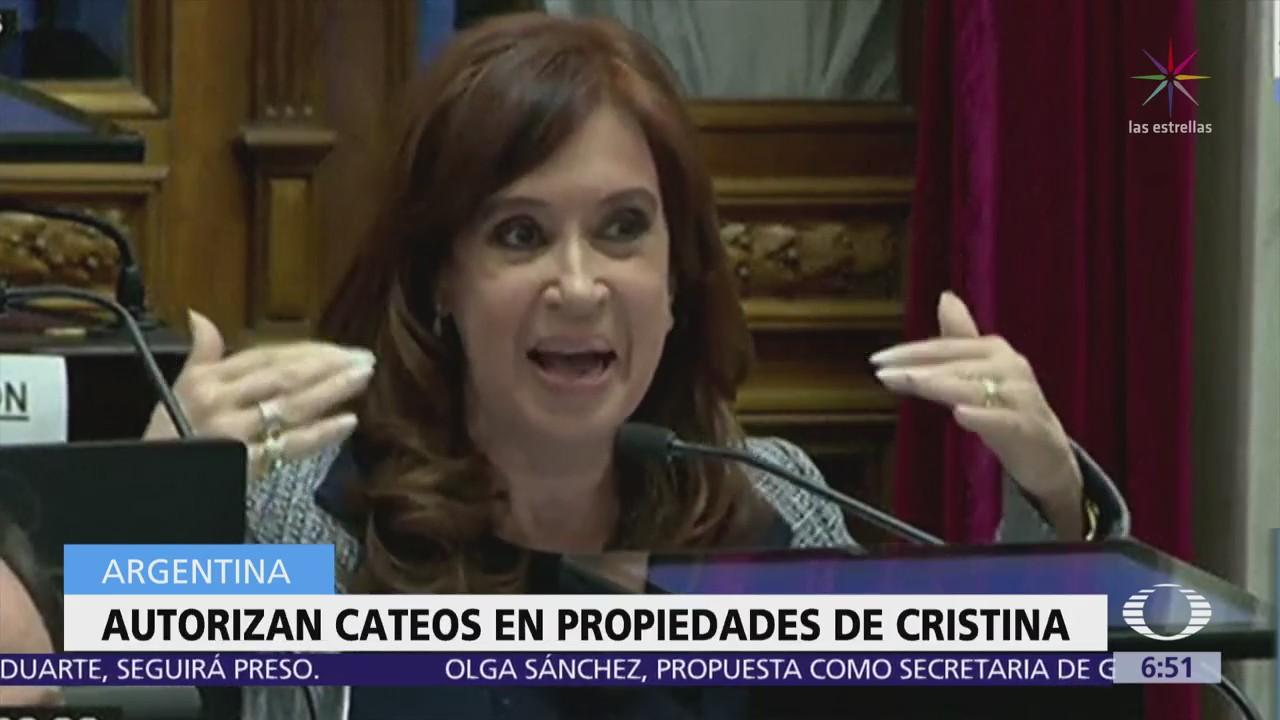 Senado de Argentina autoriza cateos en domicilios de Cristina Fernández