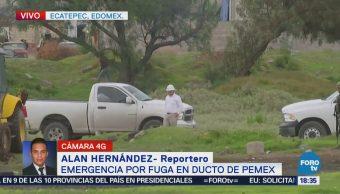 Trabajadores de Pemex controlan fuga