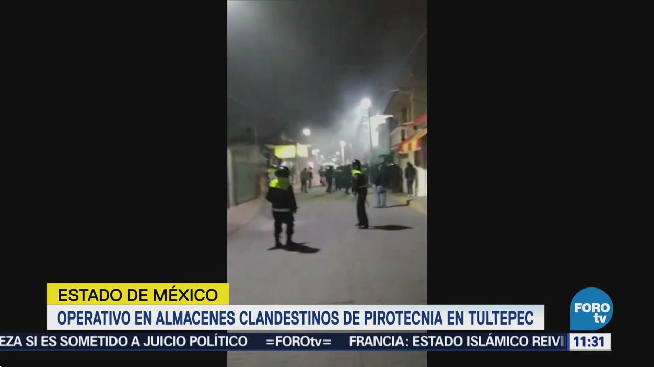 Tultepec registra disturbios por operativo contra pirotecnia
