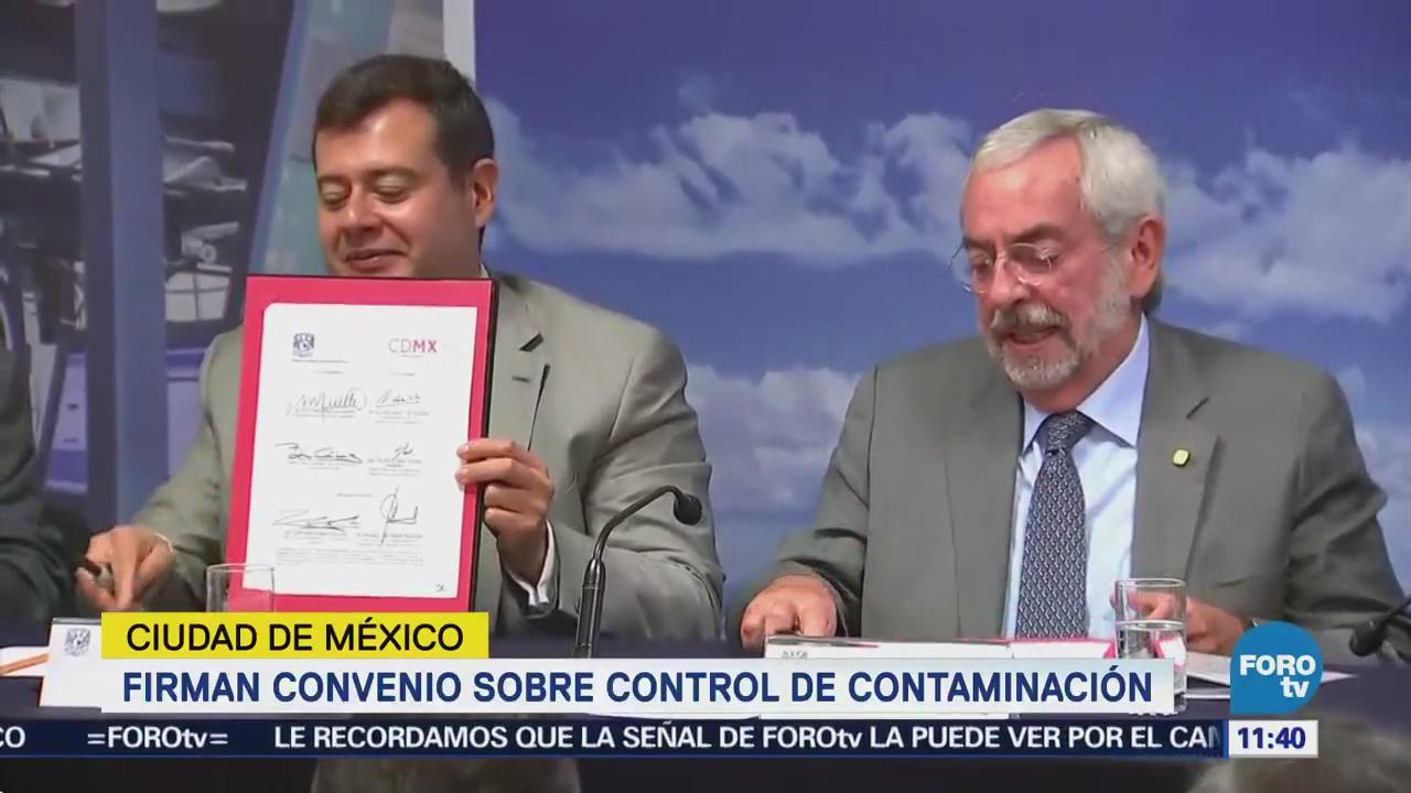 UNAM y CDMX firman convenio para controlar contaminación atmosférica