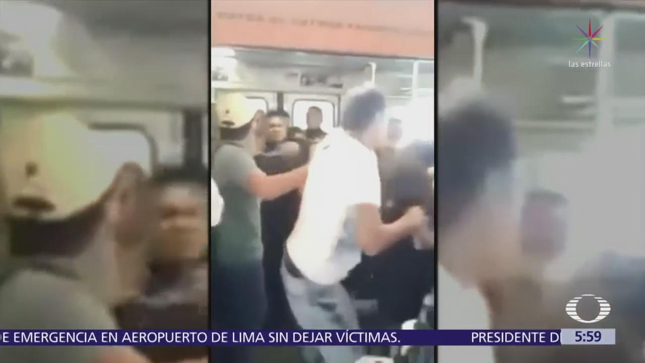Vagoneros agreden a policías la estación del Metro Ricardo Flores Magón
