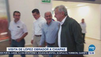 Visita de López Obrador a Chiapas