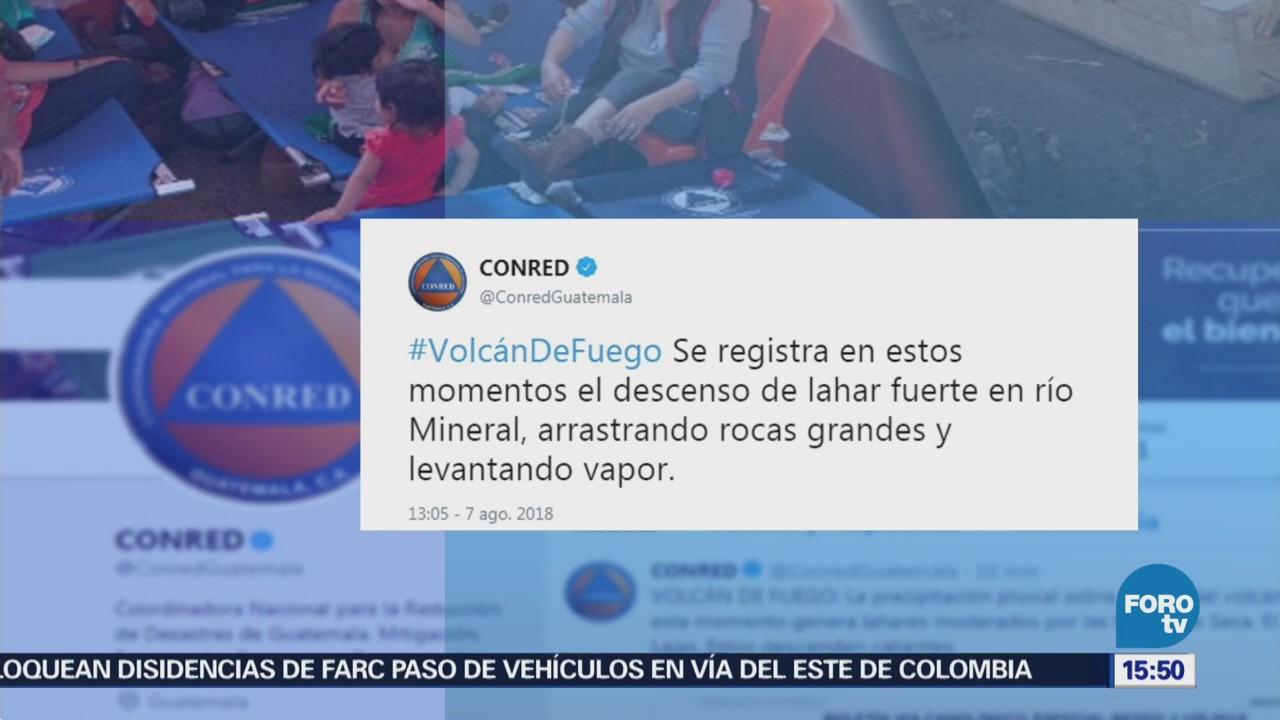 Volcán De Fuego Guatemala Emite Descenso Lahar
