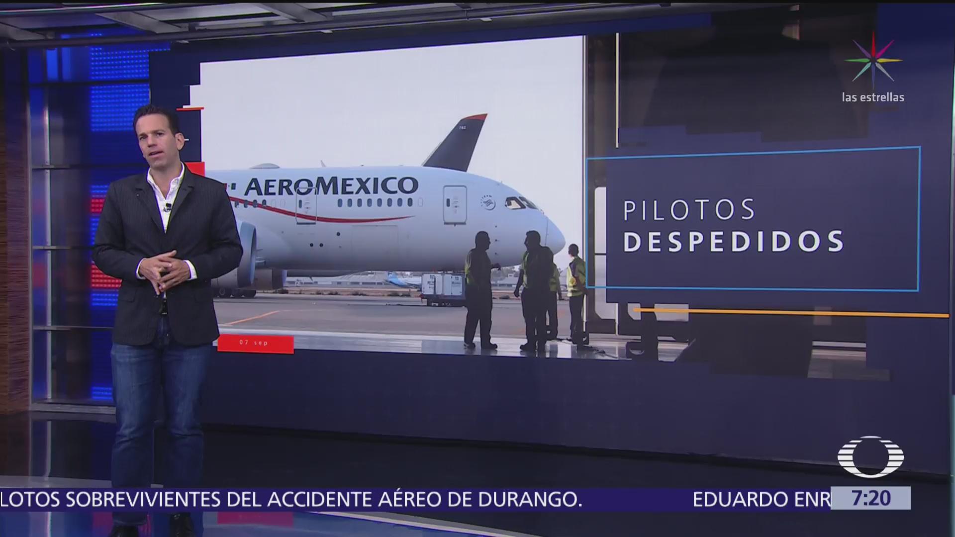 Aeroméxico despide a los 3 pilotos del accidente en Durango
