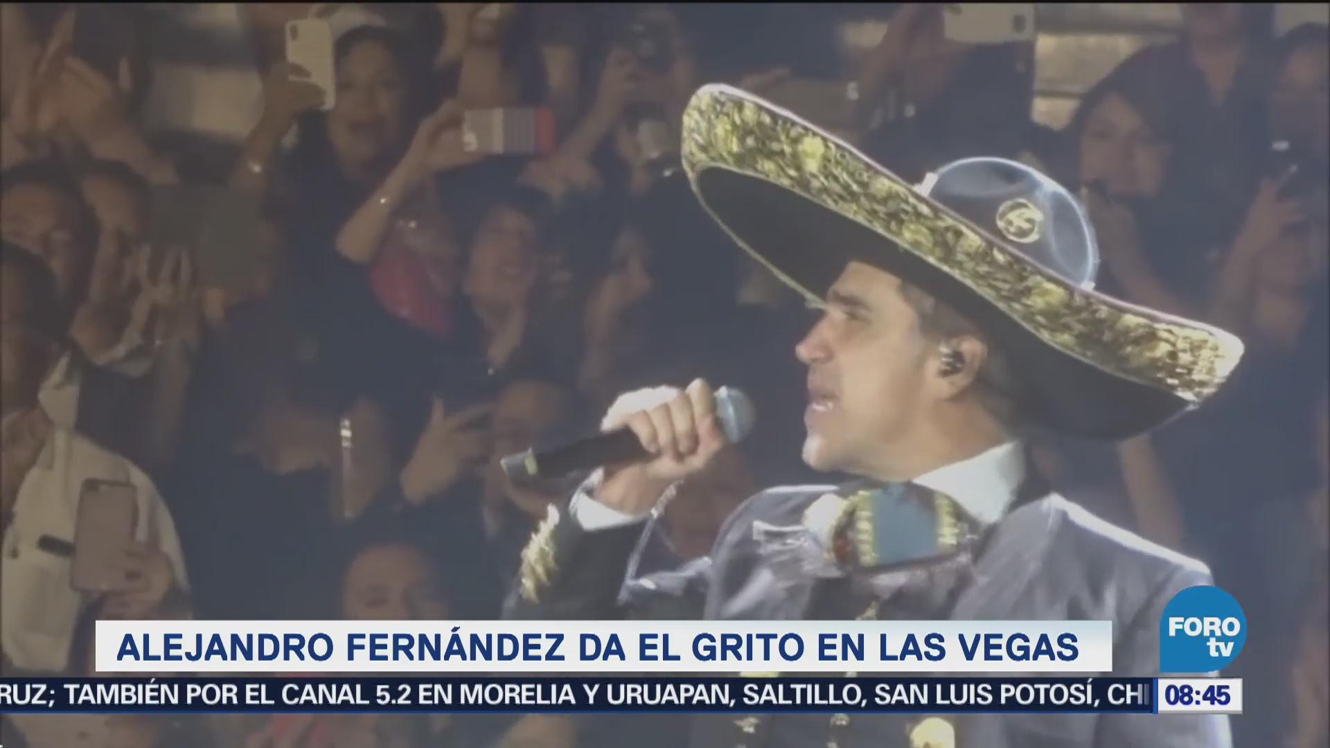 Alejandro Fernández da el grito en Las Vegas