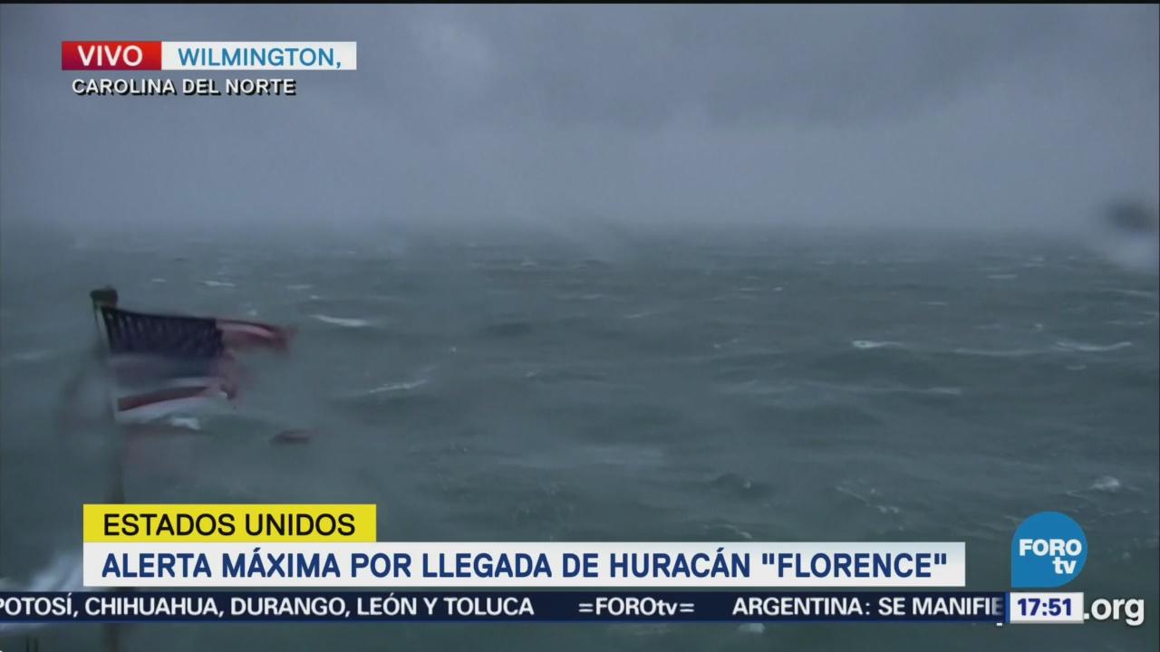 Alerta máxima por la llegada del huracán Florence Carolinas
