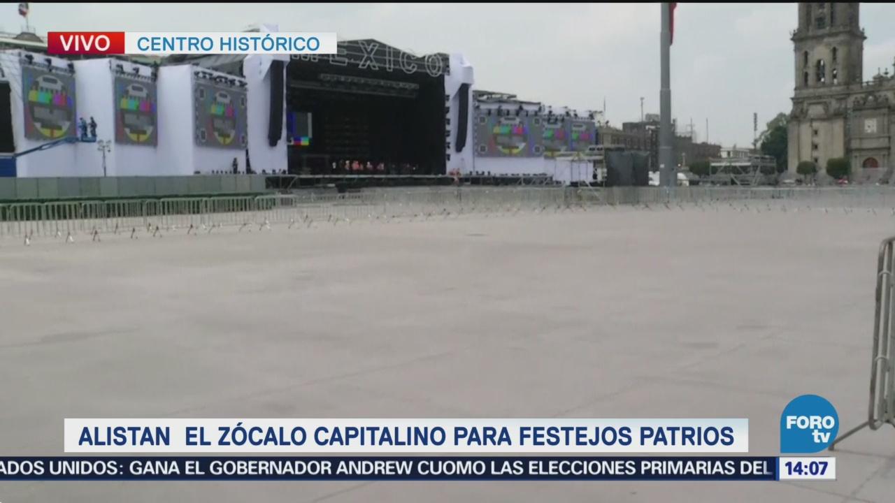 Alistan Zócalo Cdmx Festejos Patrios