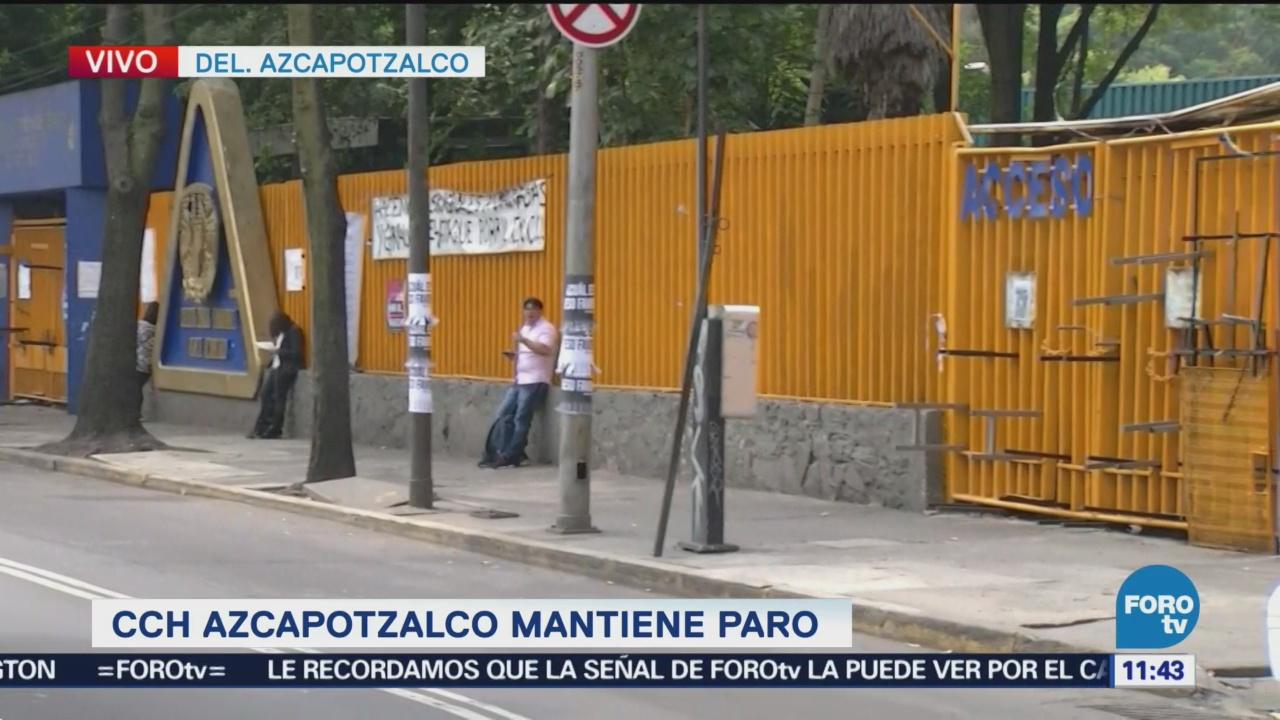 Alumnos del CCH Azcapotzalco mantienen paro