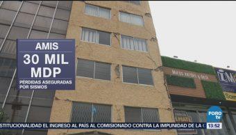 Aseguradoras han pagado 30 mil mdp en pérdidas por sismos