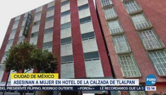 Asesinan a una mujer en hotel de Tlalpan
