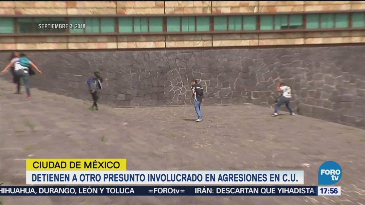 Cae Detienen Otro Presunto Involucrado Agresiones Estudiantes CU