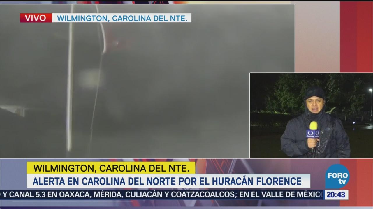 Carolina Del Norte Alerta Fuerza Huracán Florence