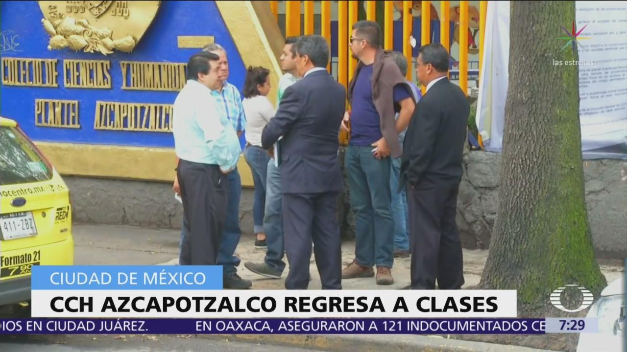 CCH Azcapotzalco reanuda clases tras 15 días de paro | Noticieros ...