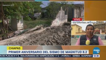 Chiapas, A Un Año Del Sismo 7S 350 Mil Familias Afectadas
