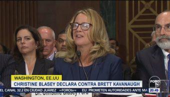Christine Blasey Declara Contra Kavanaugh Senado EU
