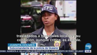Cinco Heridos Apuñalamiento Guardería Nocturna NY Queens Nueva York, Estados Unidos