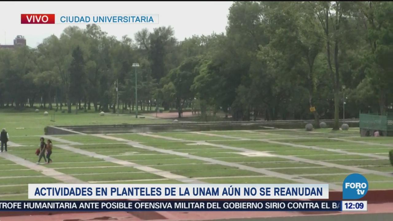 Ciudad Universitaria de la UNAM luce desierta por paro | Noticieros ...