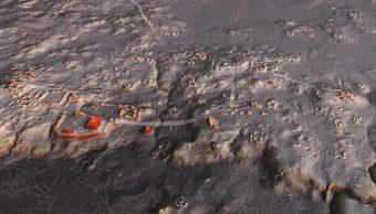 mayas, civilización, mapa, escáner