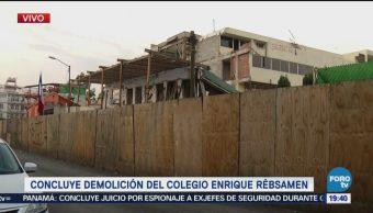 Concluye Demolición Edificio Colegio Rébsamen