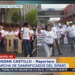 Damnificados de la CDMX reclaman inacción de las autoridades