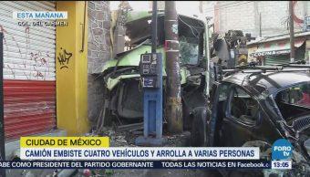 Difunden video del momento en que camión atropella personas