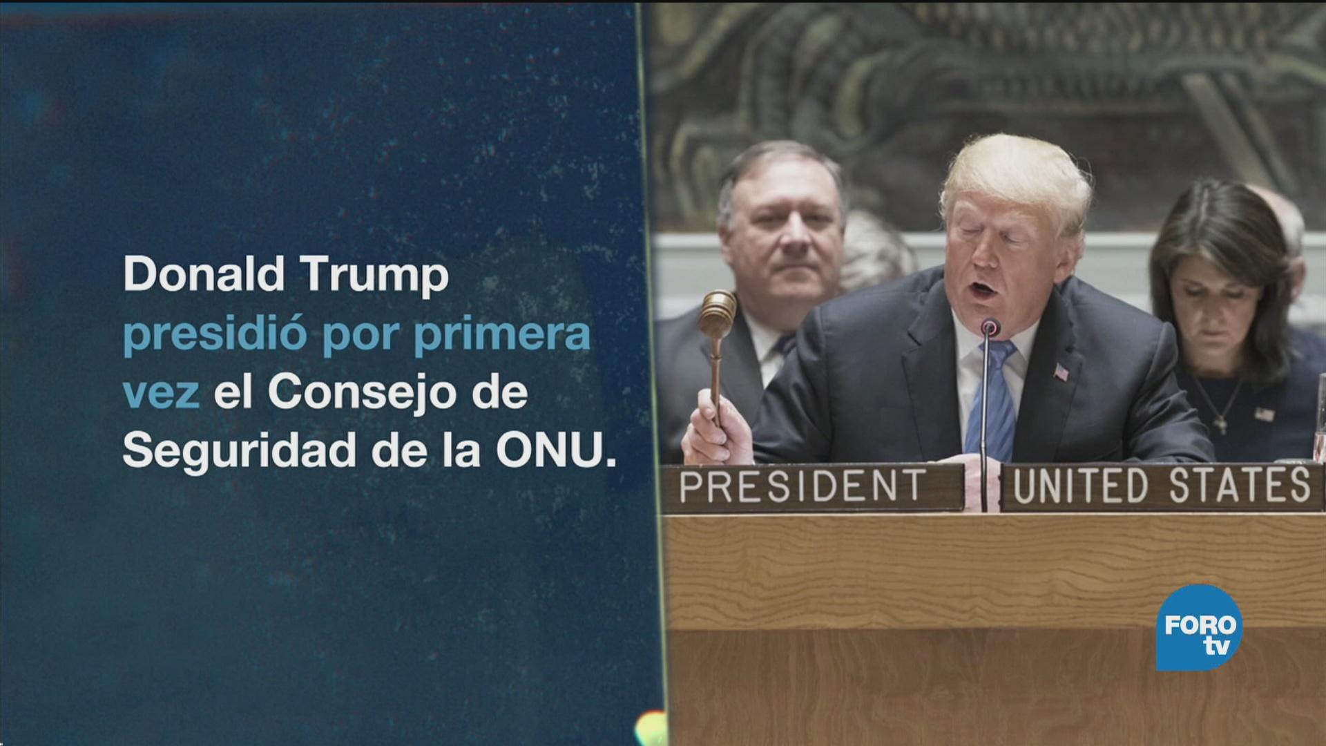 Donald Trump Toma Presidencia Consejo Seguridad ONU