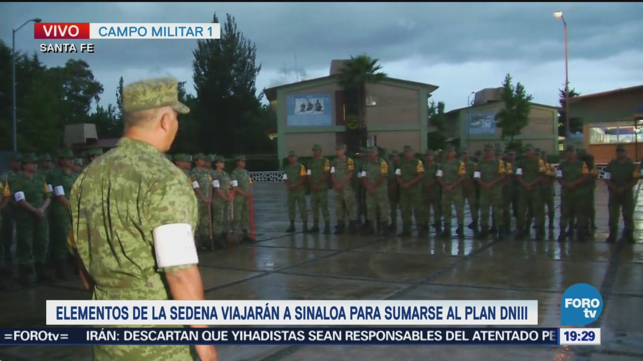 Elementos Sedena Viajarán Sinaloa Sumarse Plan Dn-Iii-E