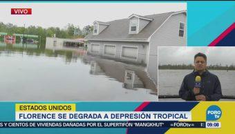 Florence Degrada Depresión Tropical Estados Unidos