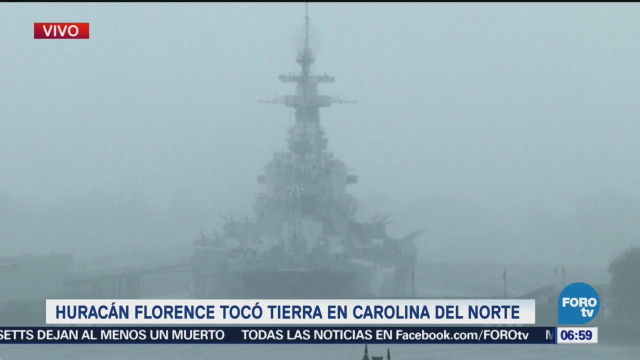 Florence toca tierra en Wrightsville Beach como huracán