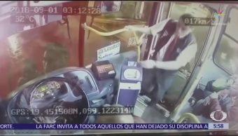Graban asalto exprés a transporte público en Tlatelolco, CDMX