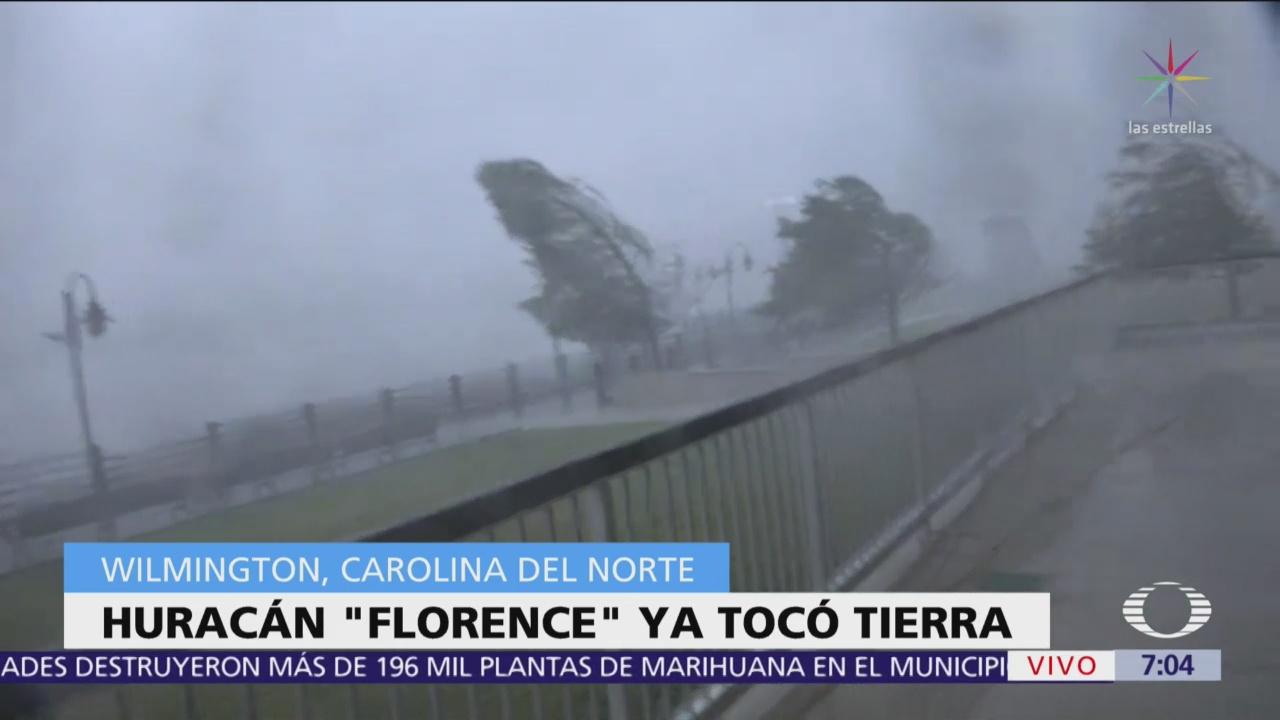Huracán Florence toca tierra en Wilmington, Carolina