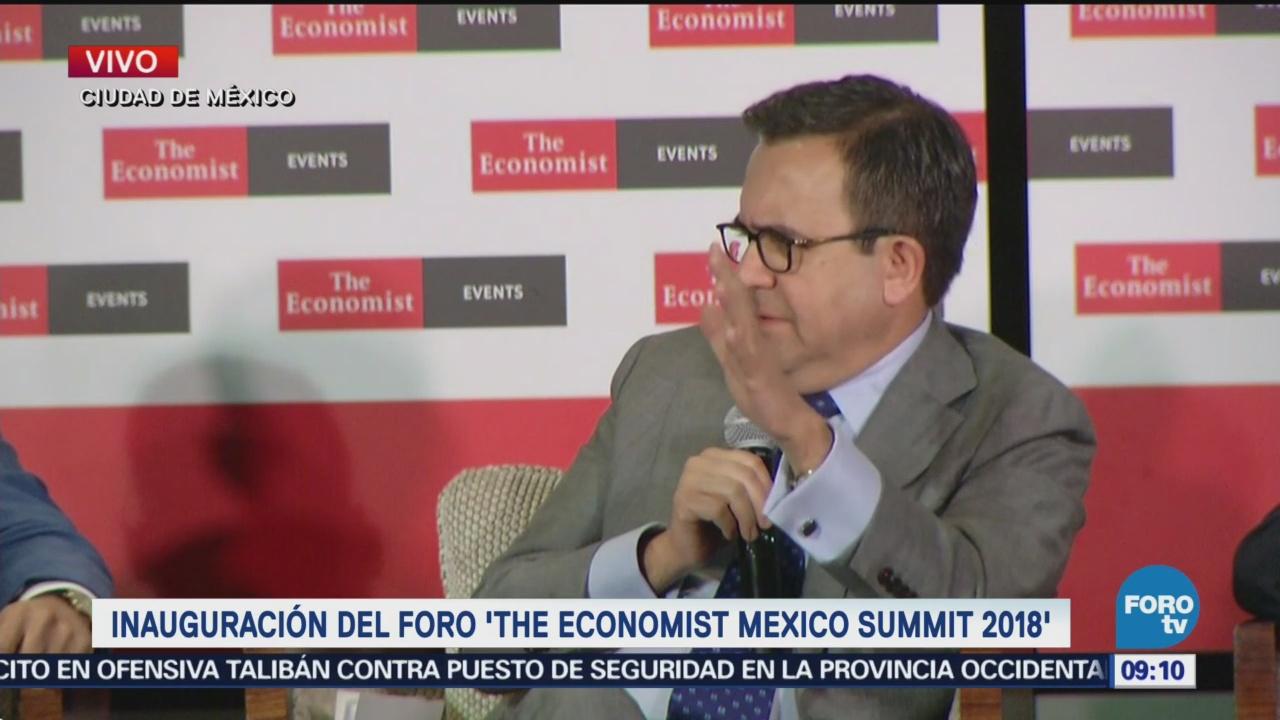 Ildefonso Guajardo inaugura foro 'The Economist Mexico 2018'