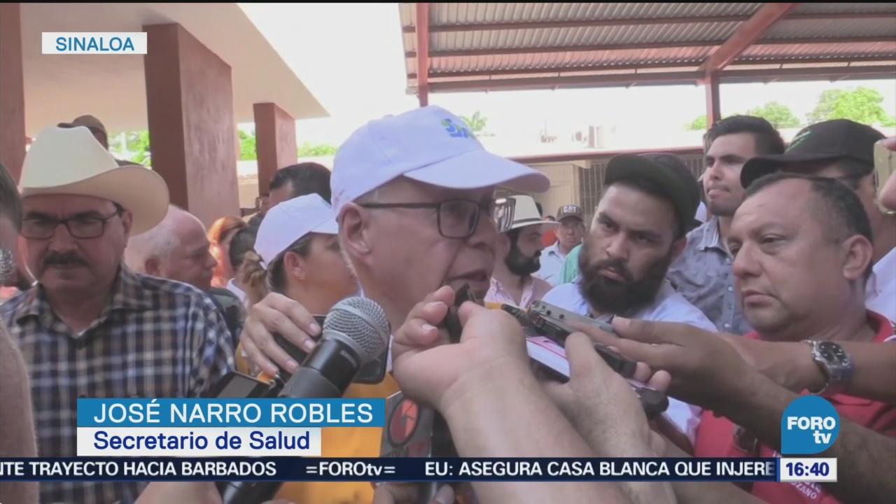 José Narro Visita Zonas Afectadas Inundaciones Sinaloa