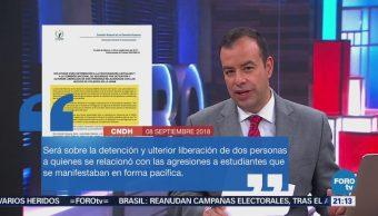 La CNDH pide evitar la impunidad sobre agresiones en la UNAM