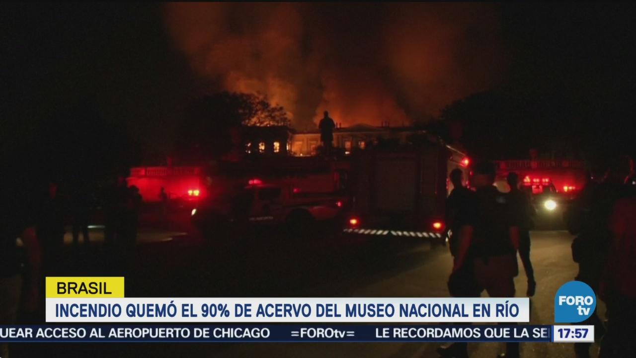 Incendio Quema 90% Acervo Museo Brasil