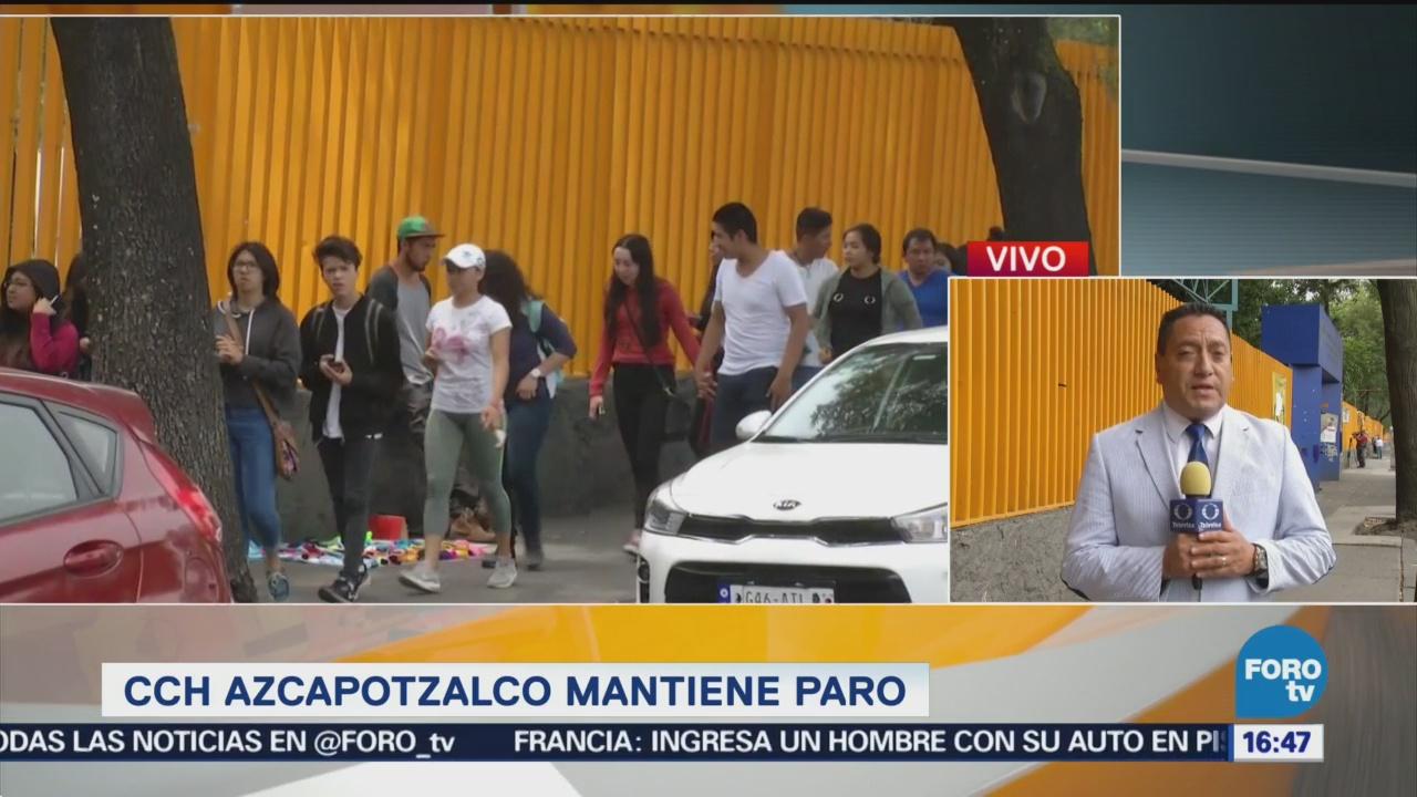 Estudiantes De Azcapotzalco Mantienen El Paro De Labores Cch Azcapotzalco 12 De Septiembre