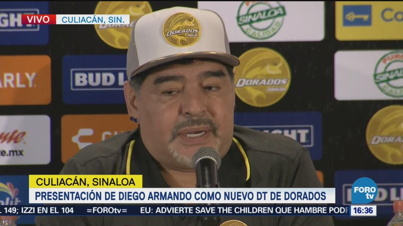 No Venimos De Vacaciones Buscamos Ascender Diego Armando Maradona Nuevo Técnico Equipo Dorados Sinaloa