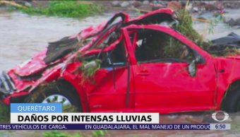 Lluvias afectan decenas de viviendas en Querétaro