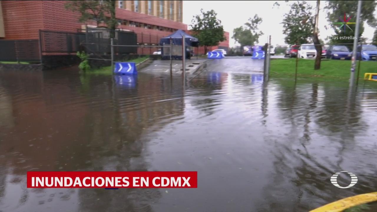 Lluvias en la CDMX dejan al menos 38 inundaciones