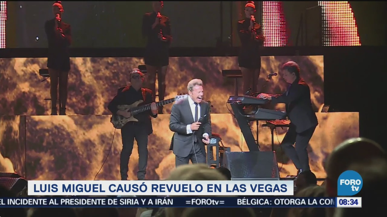 Luis Miguel visita casino en Las Vegas, da concierto