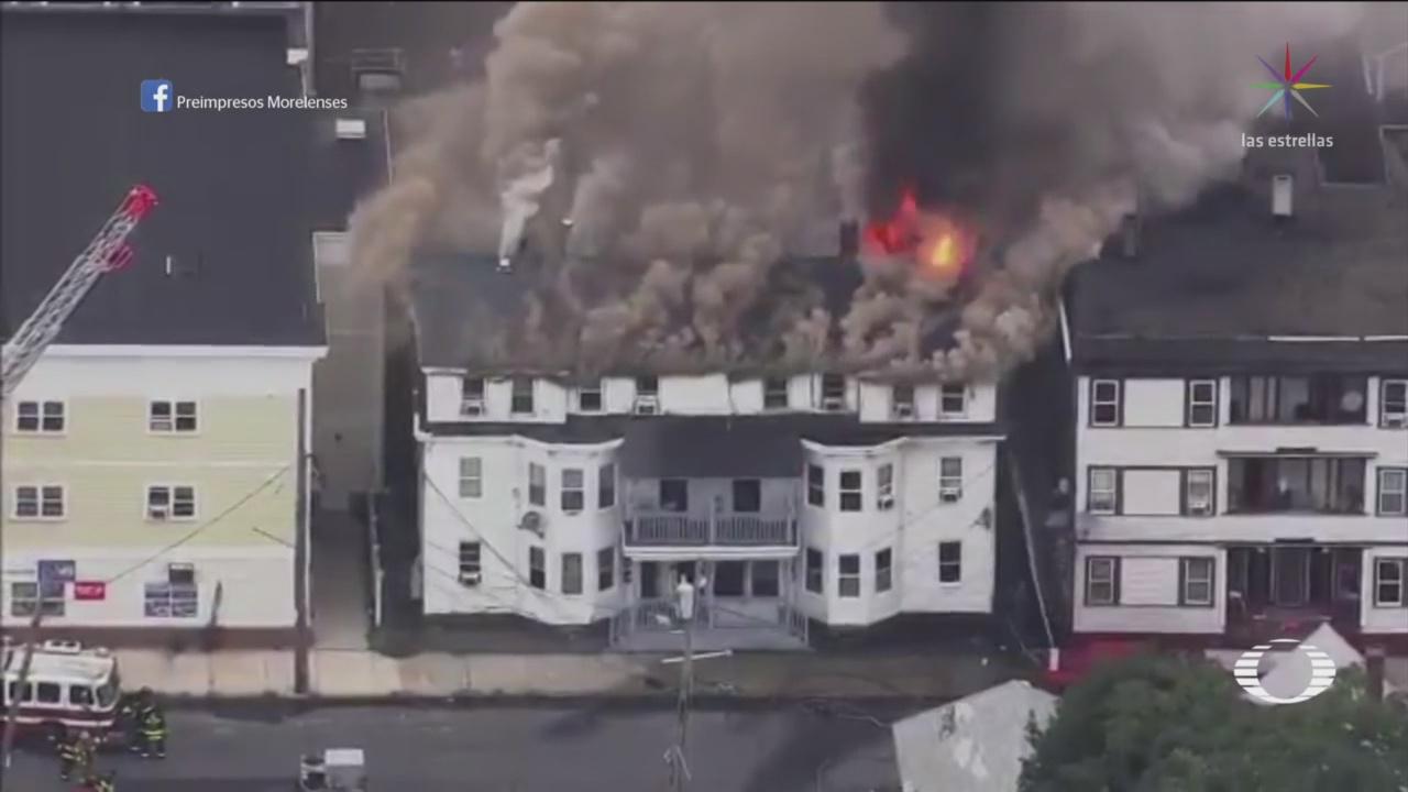 Se Registra Serie De Explosiones Fuga Gas Boston