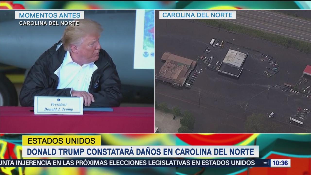 Trump Constata Daños Florence Carolina Del Norte