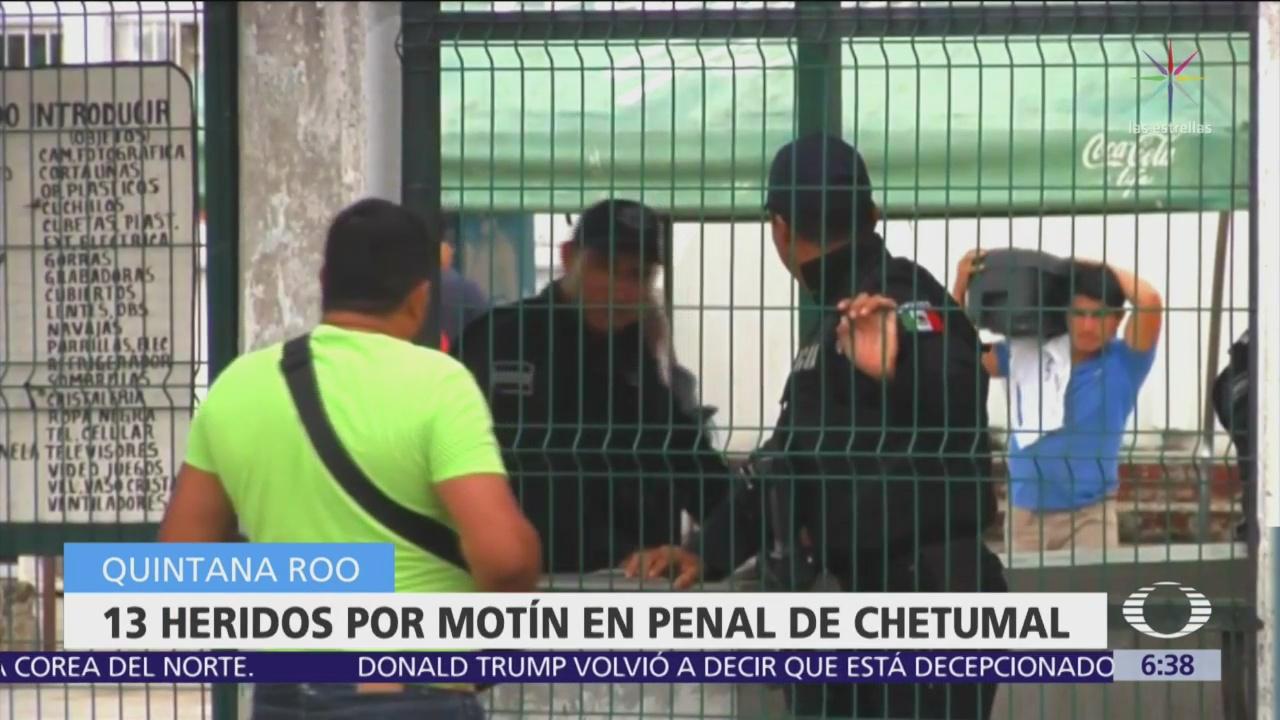 Motín en penal de Chetumal por traslado de reos