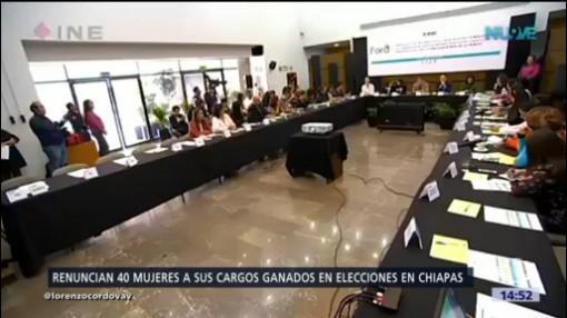 Mujeres Chiapas Renuncian Puestos Elección Popular