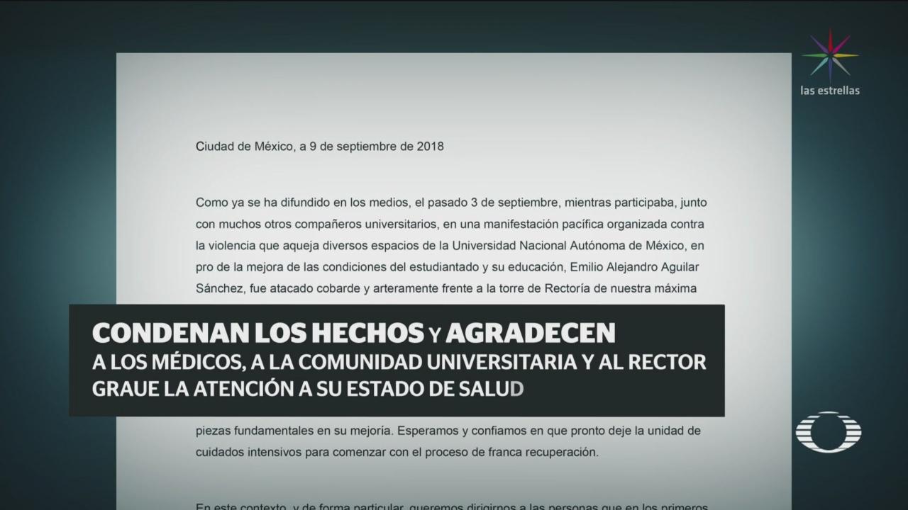 Ninguno de los jóvenes heridos UNAM ha rendido declaración
