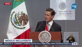 Peña Nieto: Más de dos millones de mexicanos salieron de la pobreza extrema
