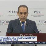 PGR manifiesta insatisfacción evolución caso Javier Duarte