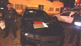 Policías CDMX detienen a delincuente con laptops la colonia Jamaica